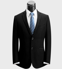 黑色羊毛职业装定制