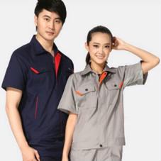 北京车间工人夏季短袖工服定做