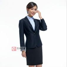 夏季短袖女装工服款式图