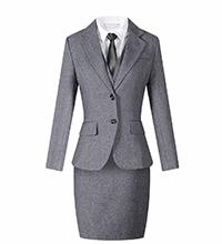 行政灰色前台职业装套裙