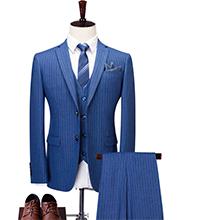 休闲时尚男士蓝色职业装定制