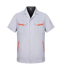 时尚带反光牙夏季短袖工作服定制