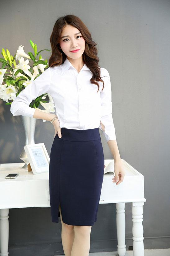 女士正装套裙的长度要求 职业装裙子长度标准 五洲之星职业装