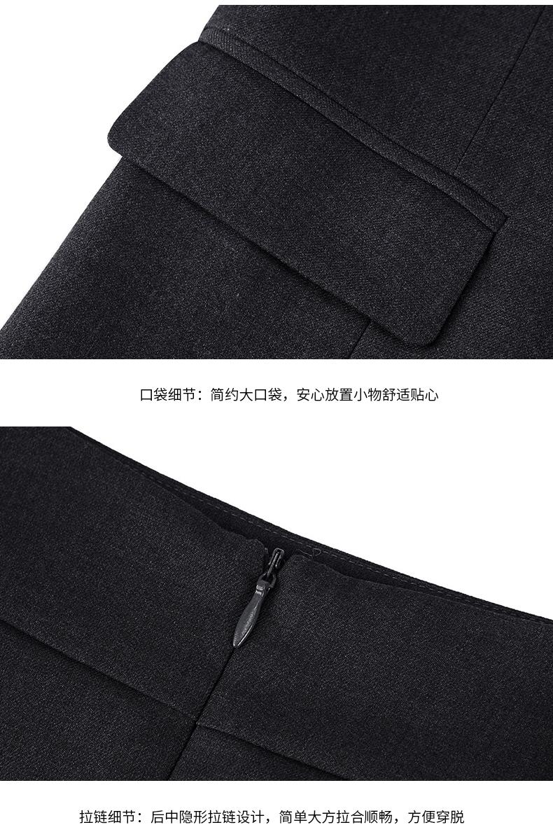 女士行政黑色职业装套装口袋细节图展示