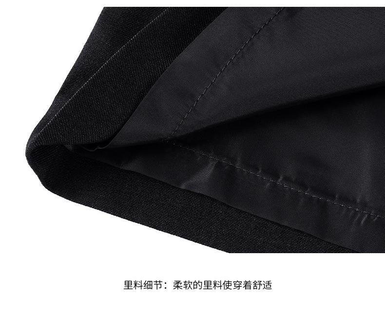 女士行政黑色职业装套装里料细节图展示
